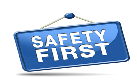 Safety First Sign for Workers Compensation Insurance